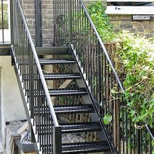 Metal staircase, back Garden Stairs
