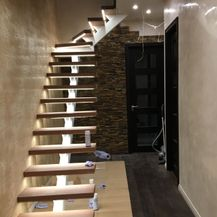 metal stair case, modern stairs, centre spine