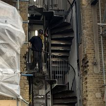 spiral Metal staircase