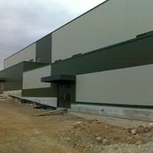 wearhouse structure and cladding