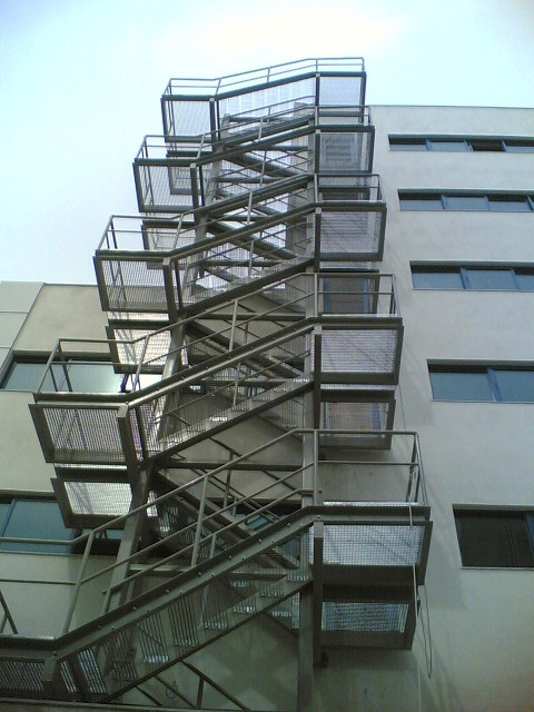 fire exit metal stairs