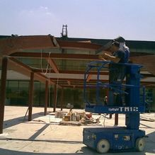 site steel installation by LSF